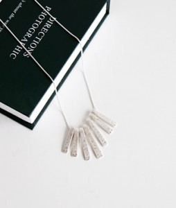 <br> Silver Piano Necklace <br><br>
