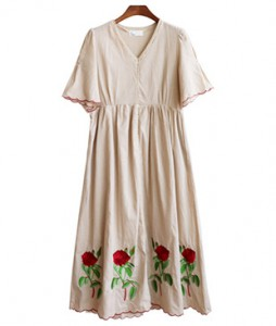 <br> rose Embroidery Dress <br><br>