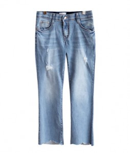 <br> Natural Cutting Light blue Denim Pants <br><br>