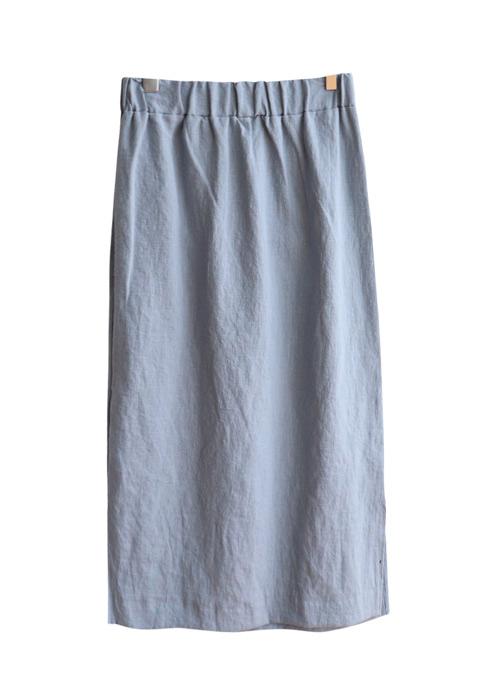 <br> Slit Banding Linen Rong skirt <br><br>