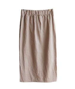 <br> Slit Banding Linen Long Skirt <br> <b><font color=#253952>Skirt second place items</font></b>