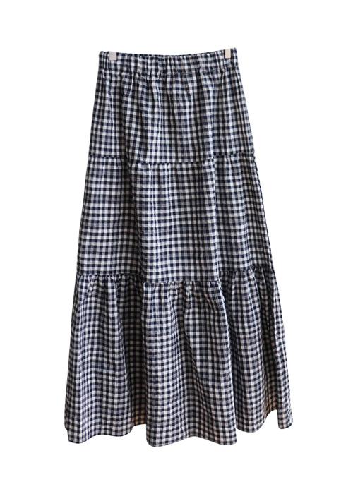 <br> Banding Shirring Banding Long Skirt <br> <b><font color=#253952>Skirt third place goods</font></b>