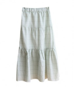 <br> Banding Shirring Banding Long Skirt <br> <b><font color=#253952>Skirt third place goods</font></b>