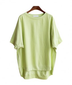 <br> Untied hem Man to man Tee <br><br>