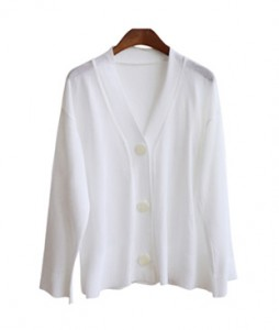 <br> Summer V-neck cardigan <br> <b><font color=#253952>Knit second place items</font></b>