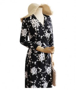 <br> White rose Wrap Dress <br><br>