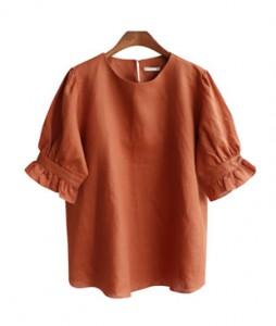 <br> feminine Linen Blouse <br> [Not returned or exchanged;