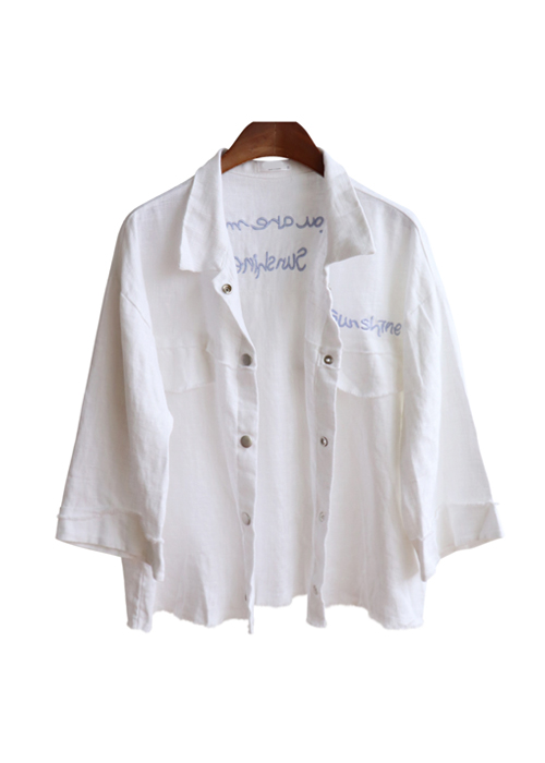 <br> Sunshine White Linen Jacket <br><br>