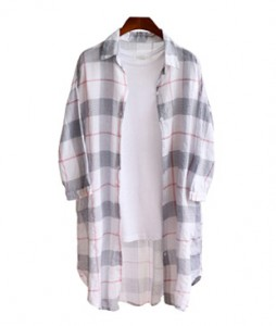 <br> Cool Material Check Long Shirt <br><br>