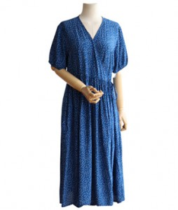 <br> Wrap Dot Long Dress <br><br>