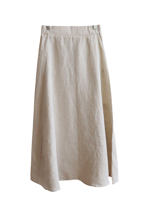 <br> line Pretty Flare Linen Skirt <br> [Not returned or exchanged;
