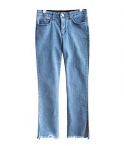 <br> Summer Anchor Slit Denim Pants <br><br>