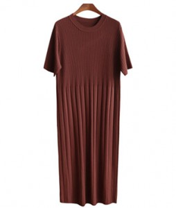 <br> 2 Corrugated line Knit Dress <br><br>