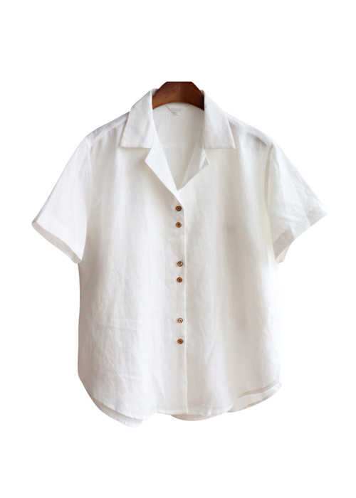 <br> Petit Button Linen Shirt <br><br>