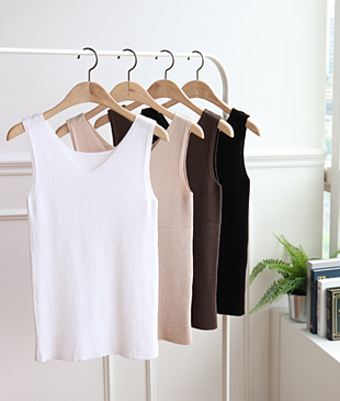 <br> Basic Sleeveless shirts knit back and forth <br> <b><font color=#253952>Knit fourth place items</font></b>