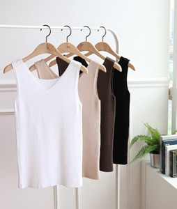 <br> Basic Sleeveless shirts Knit <br><br>