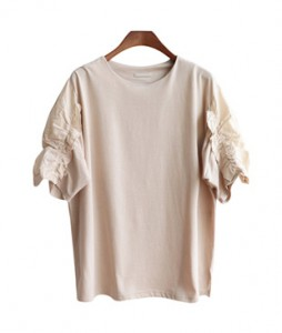 <br> Hazel Sleeve Shirring Tee <br><br>