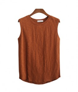 <BR> Basic Slab Sleeveless shirts Tee <BR> [Not returned or exchanged;