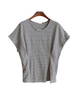 <br> Slender Stripe Pinch Tee <br><br>