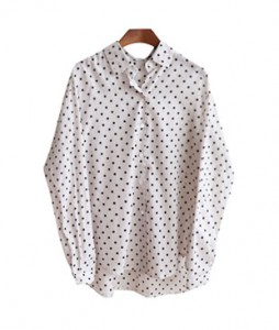 <br> Dot Shirt Feeling Gauze <br> [Not returned or exchanged;