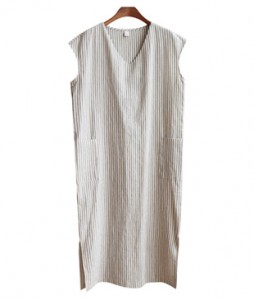 <br> Stripe Cap Sleeve Pocket Dress <br><br>