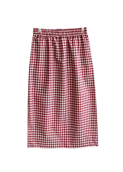 <br> Gingham Check Banding Skirt <br> [Not returned or exchanged;
