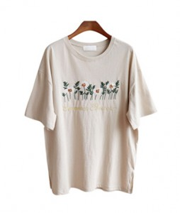 <br> Spangle Flower Tee <br> [Not returned or exchanged;
