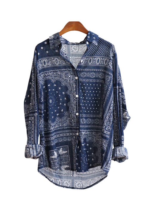 <br> Paisley Gauze Shirt <br><br>