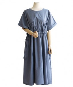 <br> Course string Shirring Dress <br> [Not returned or exchanged;
