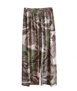 <br> Green printing Banding Pants <br> [Not returned or exchanged;