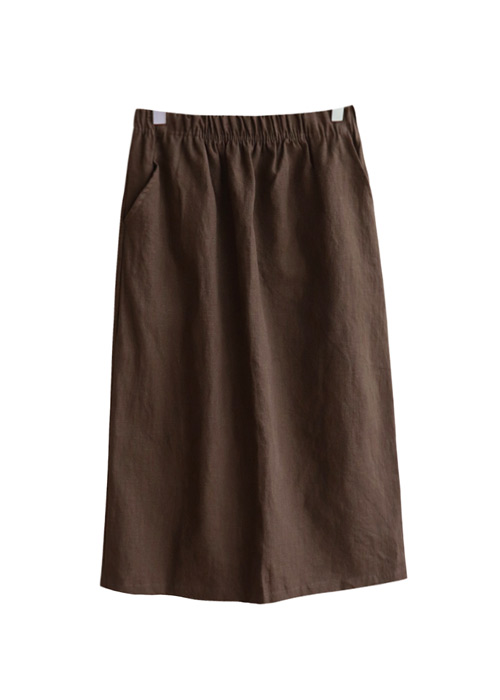 <br> Daily Banding Linen Skirt <br> [Not returned or exchanged;