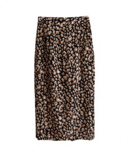 <br> Petal Leopard Banding Skirt <br><br>