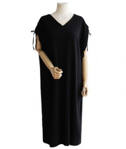 <br> Shoulder string Shirring Dress <br><br>