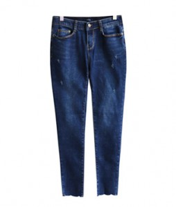 <br> Blue Cutting Denim Pants <br><br>