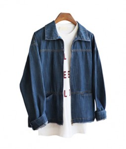 <br> Beaker zipper Denim jacket <br> <b><font color=#253952>Outer 2 items</font></b>