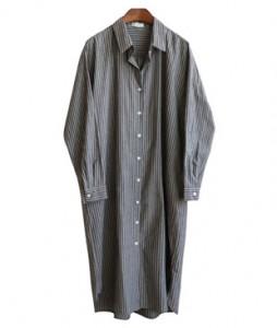 <br> Stripe Shirt Pocket Dress <br><br>