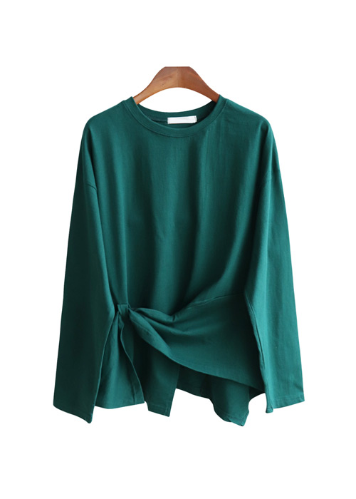 <br> Celine Wrinkle Wrap Long-sleeve Tee <br><br>
