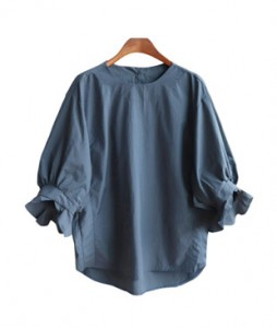 <br> Sleek ruffle back button Blouse <br> [Not returned or exchanged;