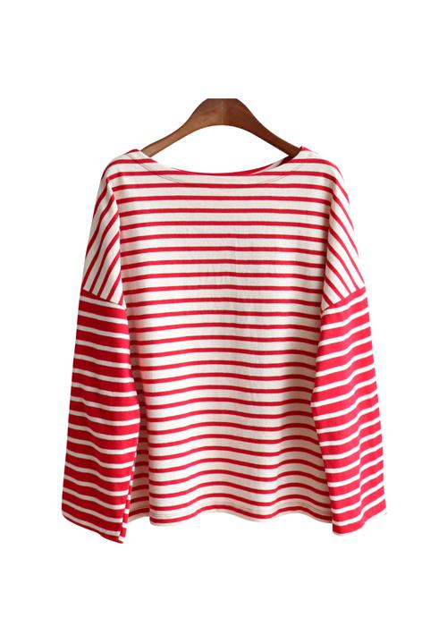 <br> Reverse Stripe Tee <br> [Not returned or exchanged;