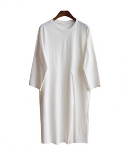 <br> Fail Deep Slit Long Tee <br> [Not returned or exchanged;