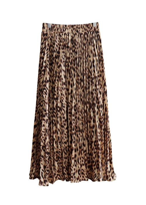 <br> Shining Pleats Leopard Skirt <br> <b><font color=#253952>1st item in skirt</font></b>
