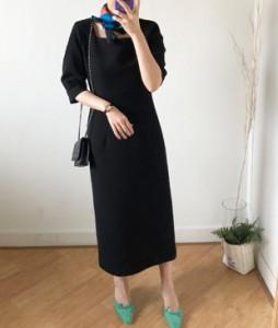 <br> My Black Square Long Dress <br><br>