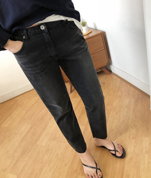 <br> Gray Baggy Denim Pants <br> [Not returned or exchanged;
