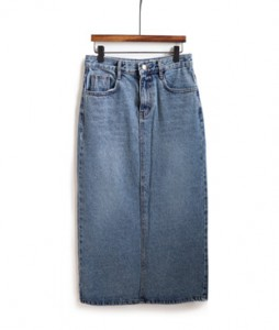 <br> Basic Denim Long Skirt <br> [Not returned or exchanged;
