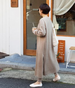 <br> Cashmere Slit Long Cardigan <br> [Not returned or exchanged;