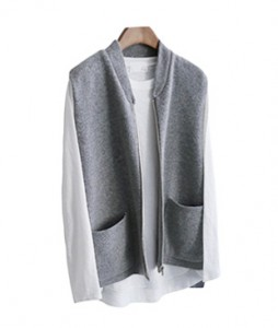 <br> Lua Knit Zipper Vest <br> <b><font color=#253952>Outer 4th item</font></b>