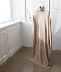 <br> Mary Turtleneck Wool Knit Dress <br><br>