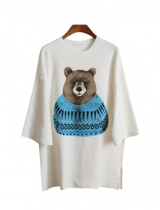 <br> Guillaume Bear Peach Long Tee <br><br>