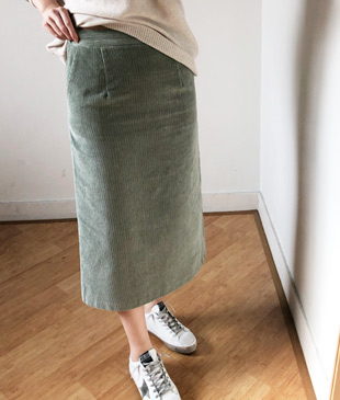 <br> Back Banding Corduroy Skirt <br> - Not returned or exchanged;