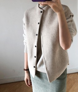 <br> Howell Button Wool Vest <br><br>